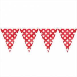 Ruby red dots flag banner