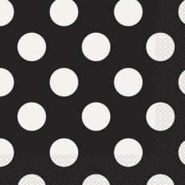 Black Dots Napkins