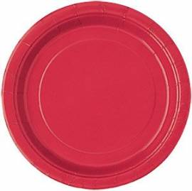 Plain Red Plates