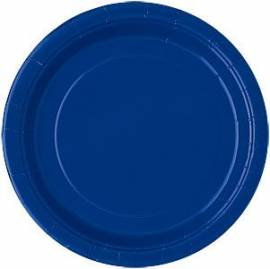 Plain Navy Blue Plates