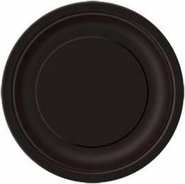 Plain Black Plates