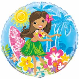 Hula Beach Party Foil Balloon