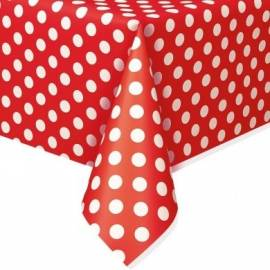 Ruby Red Polka Dots Tablecover