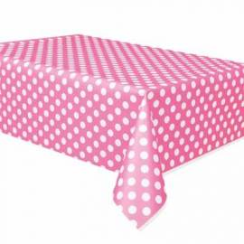 Hot Pink Polka Dots Tablecover