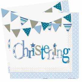 Blue Christening Napkins