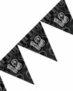 black/silver 18th flag banner