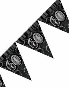 black/silver 60th flag banner