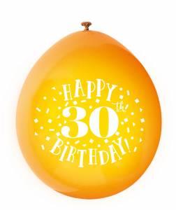 30th Birthday Balloons - 10PK
