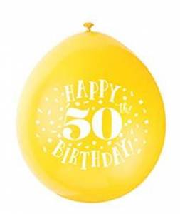 50th Birthday Balloons - 10PK