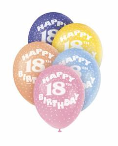 Age 18 Assorted Helium Balloons