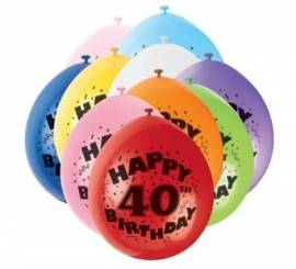 Age 40 Assorted Airfill Balloons