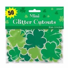 Mini glitter shamrock cutouts