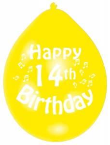 14th Birthday Latex Balloons
