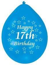 17th Birthday Latex Balloons