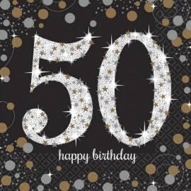 50th Sparkling Celebration Napkins - 16PK