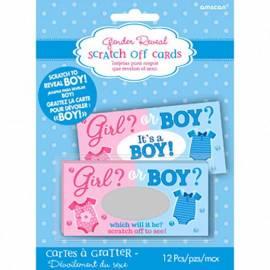 Gender Reveal Boy Scratch Cards