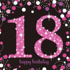 Pink Celebration 18th Napkins