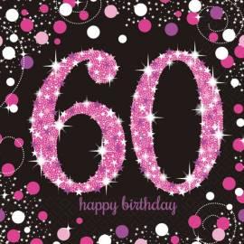 Pink celebration 60th Napkins