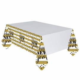 Golden New Year Tablecover