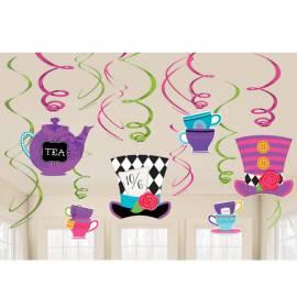 Mad Hatter Tea Party Swirls