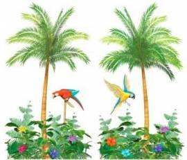 Hawiian Scene Setting Palm Tree