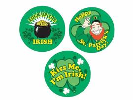 Kiss Me Im Irish Badge