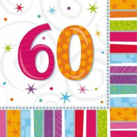 Radiant Birthday 60th napkins