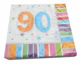 Radiant Birthday Napkins 90th