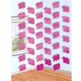 Pink18th Foil String Decoration