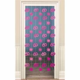Pink60th Foil String Decoration