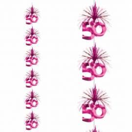 7ft 50th Pink Cascade Column