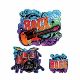 Rock Star Cut Outs value Pk