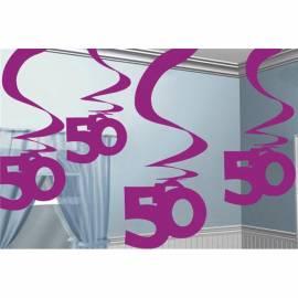 Hanging Swirl pink 50th