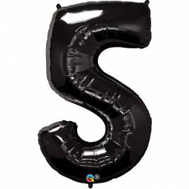 Black Number 5 Foil Balloon
