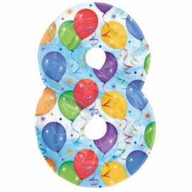Balloons Number 8 Foil Balloon