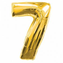 Gold Number 7 Foil Balloon