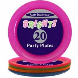 Pack of 20 Neon Plates