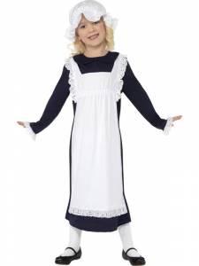 Kids Navy Victorian Poor Girl Costume