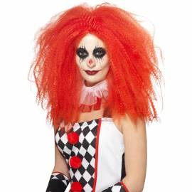 Red Clown Crimped Wig