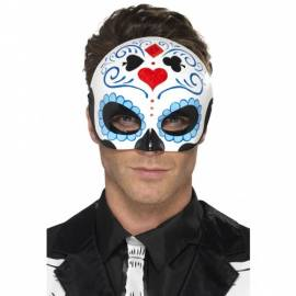 Day of the Dead Blue Eyemask
