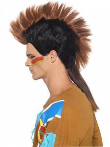 Indian Mohican Wig Brown
