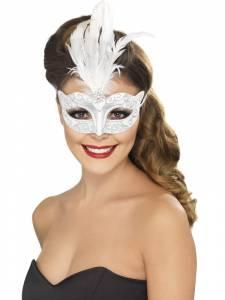 Venetian Glitter Eyemask Silver