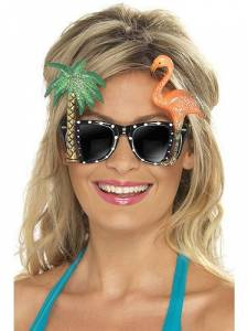 Specs with Palm Tree & Flamingo