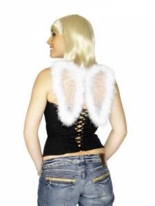 Mini White Marabou Wings