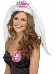 Bride to be Tiara White /Pink