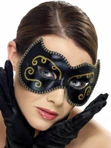 Black and Gold Persian Eyemask