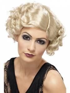 1920 Curley Blonde Flapper wig