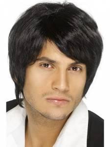 Boy Band wig Black