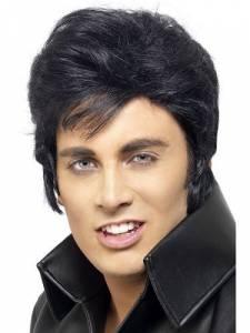 Black Elvis Wig