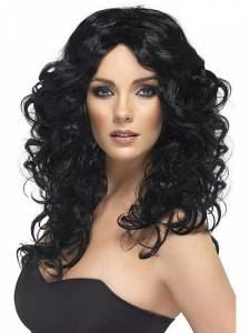 Black Curly Glamour Wig